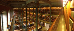 View from the balcony in the main reading room of the Kungliga biblioteket. CC BY-NC-SA 2.0 Richard Akerman