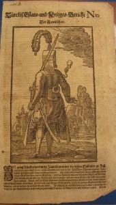 Türckis. Estats- und Krieges-Bericht Nr. 10. Hamburg: Thomas von Wiering, 1683, S. [1]r.